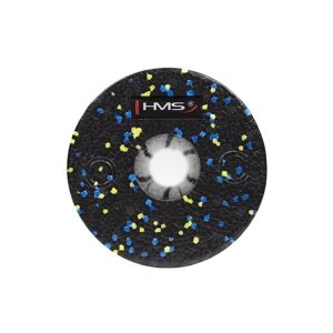 FS115 BLACK/BLUE- YELLOW DOTS 45CM WAŁEK/ROLLER FITNESS HMS