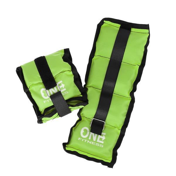 WW02 GREEN OBCIĄŻNIKI 2 x 1.5 KG ONE FITNESS